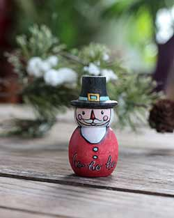 Ho Ho Ho Santa Folk Art Doll