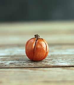Miniature Pumpkin Figurine - Medium