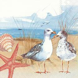 Seagulls at the Beach Paper Luncheon Napkins