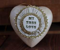 Token of Affection Heart Ornament - My True Love