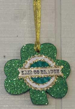 Shamrock Ornament - Erin Go Braugh