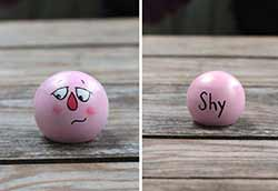 Emotion Peg Doll - Pink / Shy