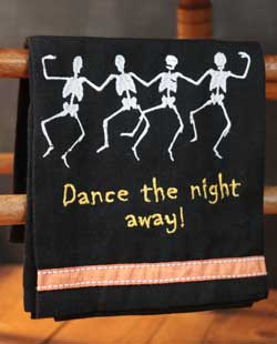 Dancing Skeletons Kitchen Towel