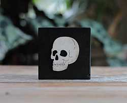 Skull Rustic Halloween Wood Sign