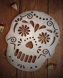 Sugar Skull Wall Decor - White