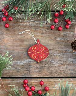 Mini Ornate Christmas Ornament
