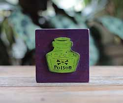 Green Poison Bottle Shelf Sitter Sign