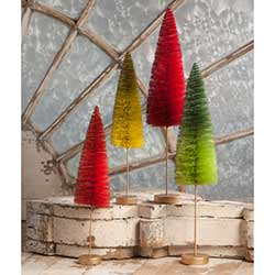 Christmas Bottle Brush Forest (Set of 4)