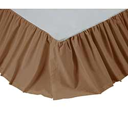 Solid Tan Bed Skirt