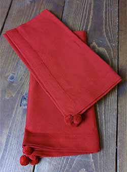 Whimsy Reindeer Red Napkin