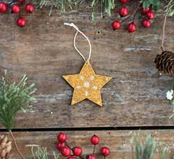 Mini Gold Star Ornament