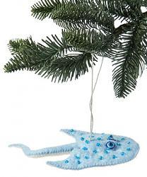 Stingray Felt Ornament