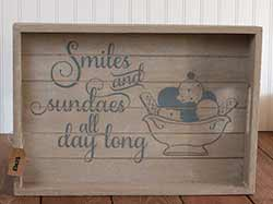 Smiles and Sundaes Serving Tray