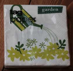Green Garden Paper Cocktail Napkin