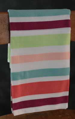 Raining Rabbits Dishtowel - Striped