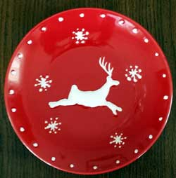 Winter Wonderland Reindeer Luncheon Plate