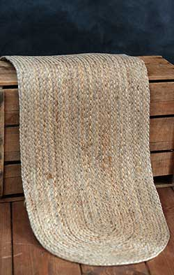 Natural Braided Table Runner, 36 inch