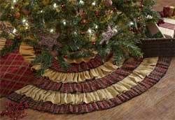 Tartan Holiday Tree Skirt