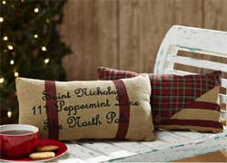 Tartan Holiday Santa's Mail Pillows (Set of 2)