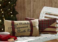 Tartan Holiday Santa's Mail Pillows (Set of 2)
