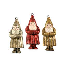Mini Metallic Belsnickle Ornaments (Set of 3)