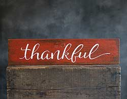 Thankful Wood Sign (Custom Color)