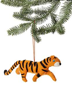 Tiger Wool Ornament