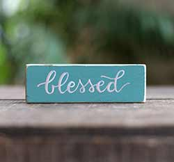Blessed Mini Stick Sign