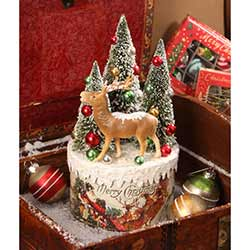 Traditional Deer Vignette on Box