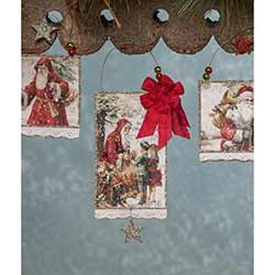 Traditional Christmas Postcard Ornaments (Set of 4)