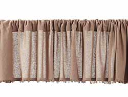 Tobacco Cloth Valance - Nutmeg (72 inch)