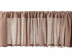 Tobacco Cloth Valance - Nutmeg (72 inch)