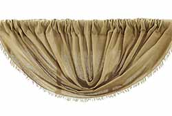 Tobacco Cloth Balloon Valance - Khaki