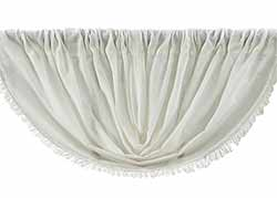 Antique White Tobacco Cloth Balloon Valance