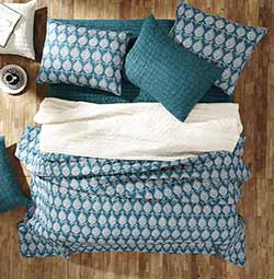 Priya Aegean Blue Quilt Set (Multiple size options)