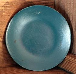 Distressed 6 inch Candle Plate - Teal Blue