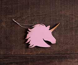 Unicorn Ornament - Pink & Gold (Personalized)