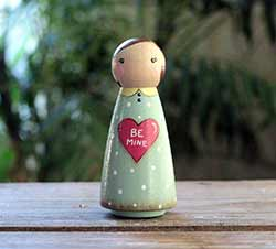 Be Mine Conversation Heart Doll