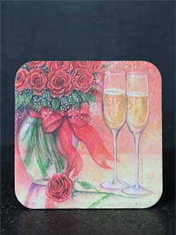 Champagne and Roses Coaster