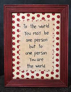 To the World Stitchery
