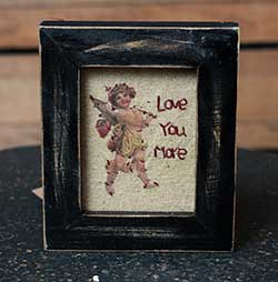 Love You More Cupid Stitchery
