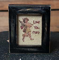 Love You More Cupid Stitchery