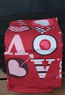 Big Love Kitchen Towel - Red