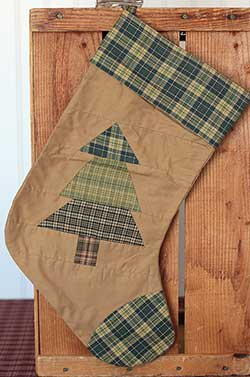 Patchwork Tree Stocking