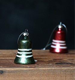 Vintage Mercury Bell Ornament, Green