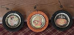 Primitives By Kathy Halloween Bottlecap Plate Ornament