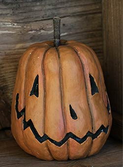 Grinning Pumpkin Head - Lighted (Large)