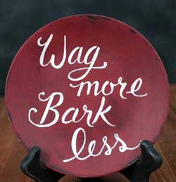 Wag More Hand-painted Plate