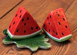 Watermelon Salt & Pepper Shaker Set