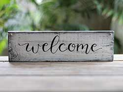 Welcome Reclaimed Wood Sign - 12 inch